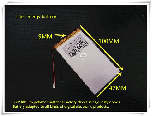 3.7V 6000mAH 9047100  (polymer lithium ion battery) Li-ion battery for tablet pc  mp3 mp4 cell phone speaker