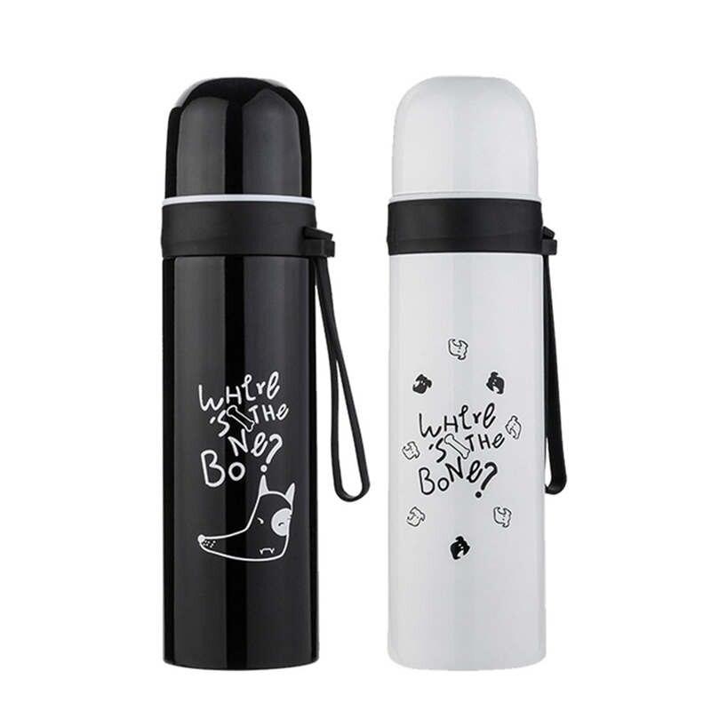 Portable Stainless Steel Vacuum Flask Thermos Coffee Cup Travel Water Bottle Coffee Tea Beer Juice Milk Eco-Friendly Cups 19feb1