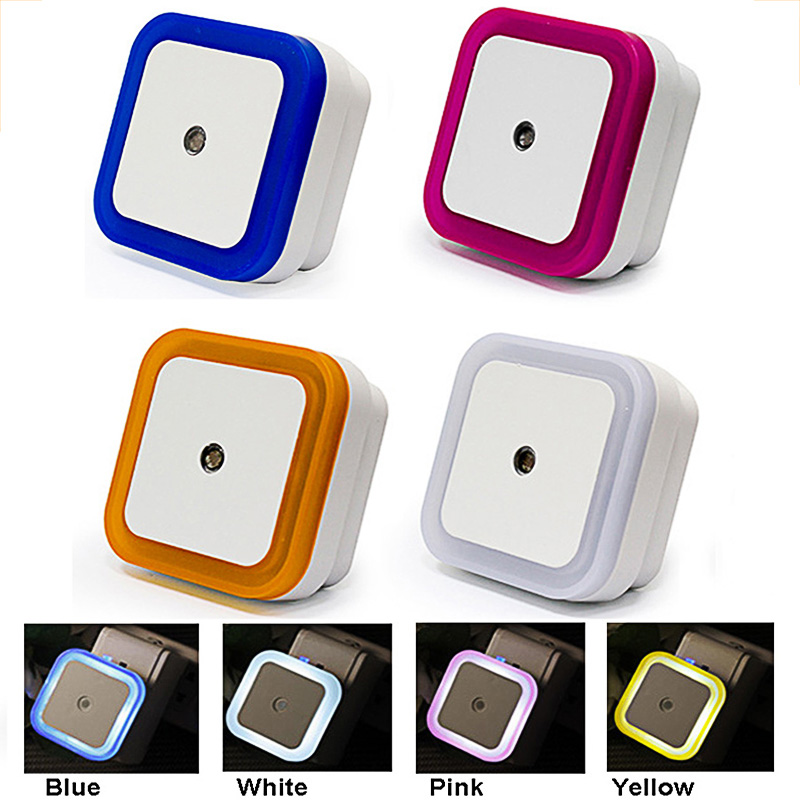 Mini Night Light LED 220V EU Plug Light Sensor Control Night Lamp Children Kids Baby Living Room Bedroom Lighting Corridor Lamp