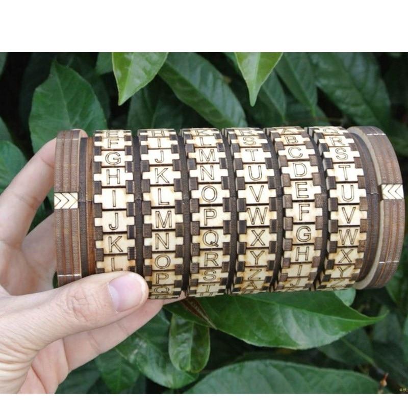 leonardo da vinci educational toys wooden locks cryptex gift ideas christmas gift to
