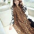 2016 New Fashion Women Long Style Soft Chiffon Silk Scarves 1PC 150x60cm Leopard Printed Sexy Wrap Lady Shawl Muffler Christmas