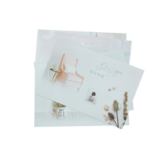 2pcs/set One Envelope With Greeting Card Deeply Blessed Shiny Universal Random