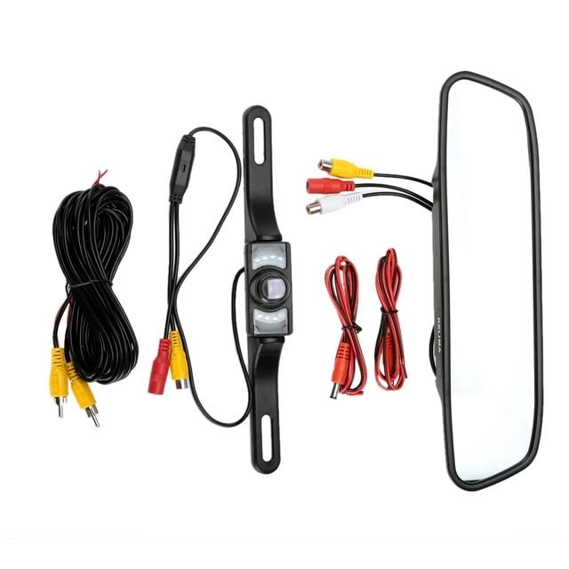 KELIMA Автомобильная Камера Заднего вида 7 LED Night Lights с 4.3 дюймов Дисплей 2-в-1 Комплект Зеркало Заднего Вида Video Recorder