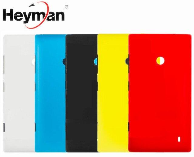 Carcasa Heyman para Nokia Lumia 520 Lumia 525 cubierta trasera de la cubierta de la batería (con volumen de alimentación lateral botón)