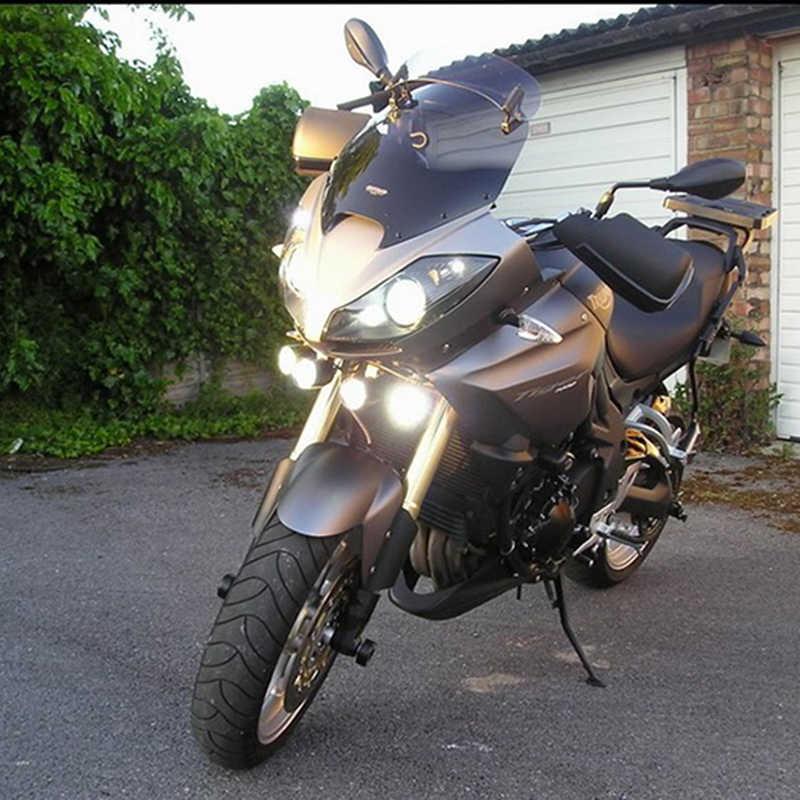 Huiermeimi 2PCS 30W 4*U2 12V motorcycle headlight sportster spot head lights moto cafe racer led spotlights motorbike headlamp