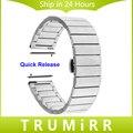 Faixa de Relógio de Aço inoxidável para Pebble Tempo Borboleta Fivela Pulseira Pulseira de Relógio Redondo 20mm Bradley com Pinos de Liberação Rápida