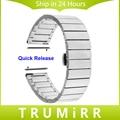 Venda de Reloj de Acero inoxidable para Pebble Tiempo Reloj Redondo 20mm Bradley Mariposa Hebilla de Pulsera de La Correa con los Pernos de Liberación Rápida