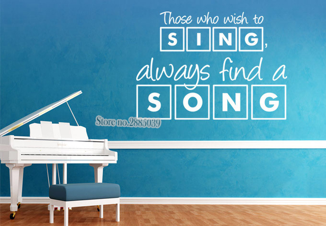 New Design Wall Sticker Quotes Those Who Wish To Sing..Fashion Decal Living  Room