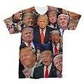 Дональд Трамп Трамп Коллажей 3D Футболки Высокого Качества Новая Мода Бренд Мужской 3D Футболки Одежда Camisetas Masculinas