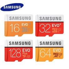 100% первоначально Micro SD карты Samsung EVO 32 г 64 г 128 г 16 г 256 г Class10 флэш-памяти карты 100 МБ/с. U3 4 К и U1 TF карты Бесплатная адаптер