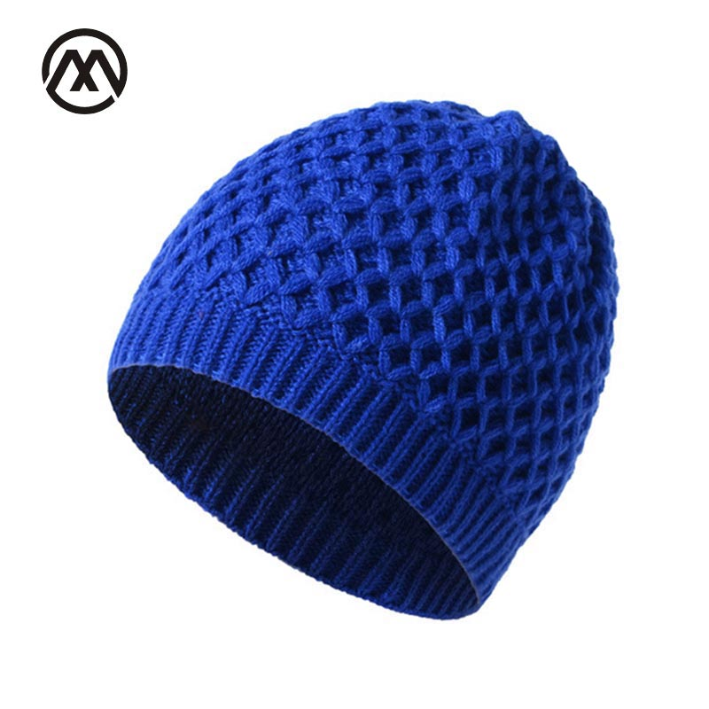 Grid Beanies Skullies Winter Cap For Men Women Knit Hats Fashion Warm Wool Stretchy Crochet Hat Outdoor Hip Hop Beanie Ski Caps 2017 winter women beanie skullies men hiphop hats knitted hat baggy crochet cap bonnets femme en laine homme gorros de lana