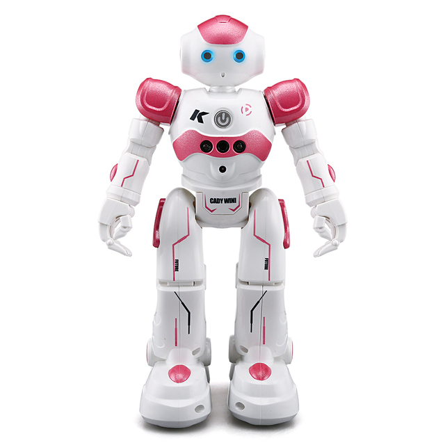 JJRC R2 Programmable Defender USB Charging Dancing IR Remote Control RC Robot Intelligent Obstacle Avoidance Gesture
