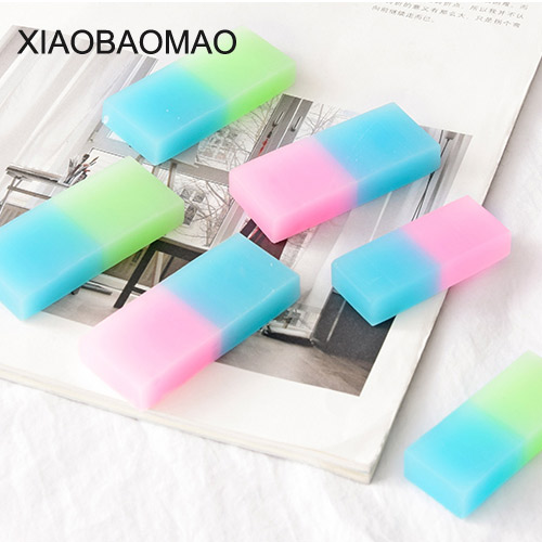 5 Pcs/lot Transparent Jelly Rubber Eraser Color Gradient Artistic Drawing Pencil Eraser Student School Supplies