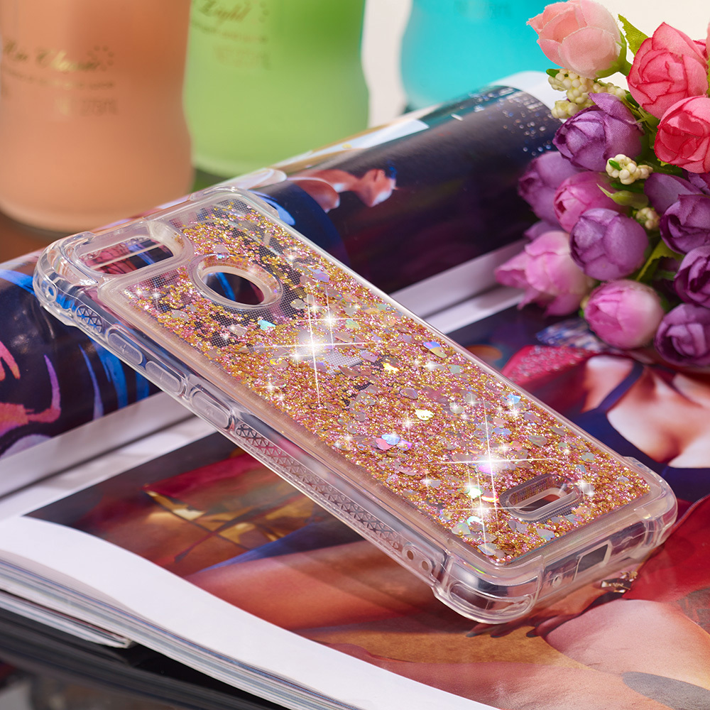 Phone Bags & Cases Glitter Case For Xiaomi Redmi 5 Bling Dynamic Liquid Quicksand Fitted Cover Xaomi Redmi5 Xiomi Red Mi Redmi 5 Phone Cases Funda Half-wrapped Case