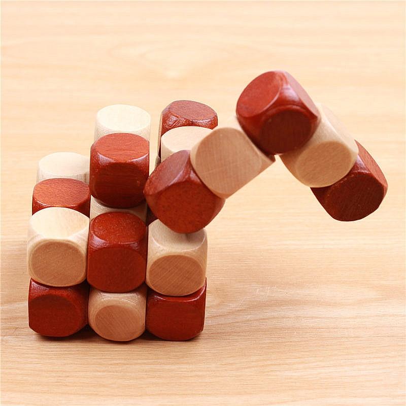 3D trä pussel Leksaker Magic Cube Educational Jigsaw Wood Fancy - Spel och pussel - Foto 4