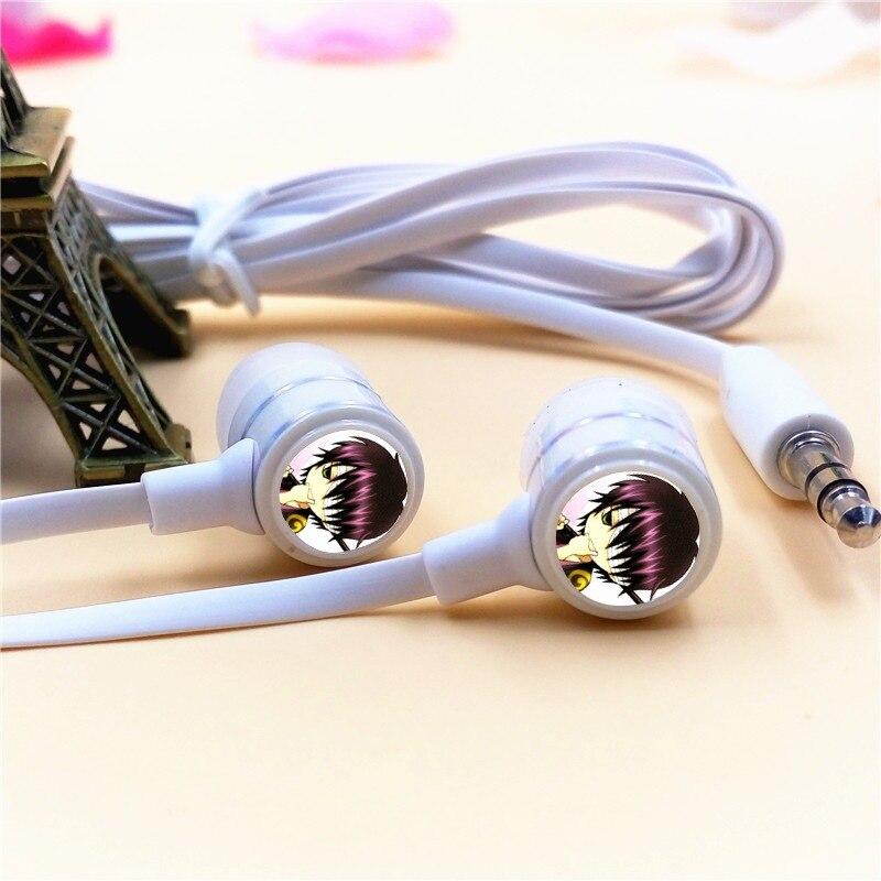 Anime GINTAMA Takasugi Shinsuke In-ear Earphone 3.5mm Stereo Earbuds Microphone Phone Game Headset for Iphone Samsung MP3 Gift парик косплей takasugi shinsuke cosplay 35 noragami yato takasugi shinsuke wig