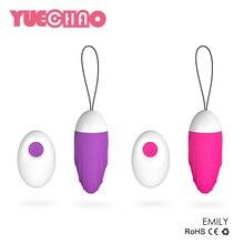 Мощный 7 скоростями Беспроводной Дистанционное управление вибрационный яйца Секс-игрушки девушку вагинальные плотно упражнения Перейти Яйца Вибраторы для Для женщин