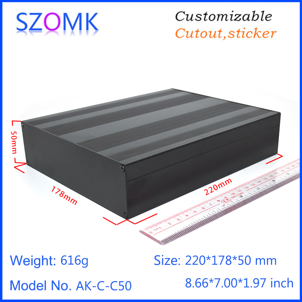 1 piece 50 178 220mm electrical aluminum extrusion power supply enclosure box szomk hot selling quality
