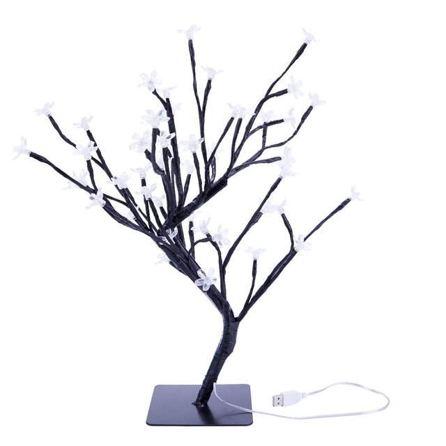 6c63391ba048 DSHA -18 Inch Cherry Blossom Bonsai Tree, 48 LED Lights, Warm White Lights,  Ideal as Night Lights, Home Gift Idea