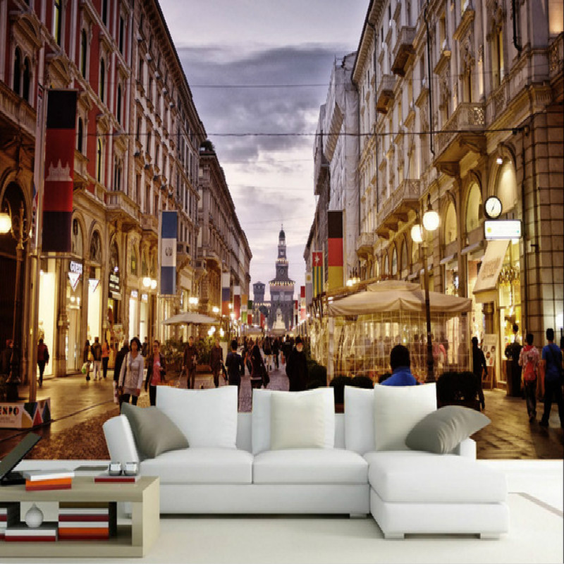 3D photo Wallpaper for Walls 3d Decorative Vinyl Wall Paper Background hand Painting Mural Wallpapers city Home Improvement damask wallpaper for walls 3d wall paper mural wallpapers silk for living room bedroom home improvement decorative