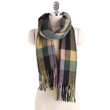 Winter Brand Luxury Tartan Cashmere Scarf Women Wool Plaid Blanket Wrap thicken soft Scarf Pashmina Shawls Scarves Hijab DP2549