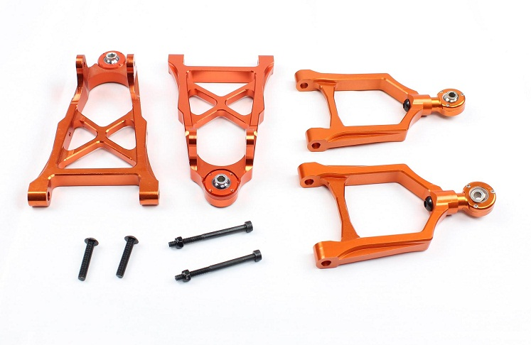 Baja CNC Front Alloy Arm Set with CNC ball joint - (4pcs/set) for 1/5 scale HPI KM Baja 5b 5t parts 85113 alloy front hub carrier for 1 5 hpi baja 5b 5t 5sc