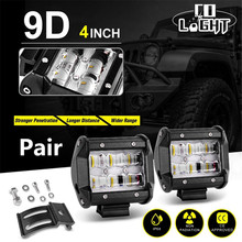 COLIGHT LED Light Bar 4Inch 30W 9D Work Light Led 12V 24V for Lada Offroad Truck 4×4 4WD SUV ATV BMW Car Styling Auto Fog Lights