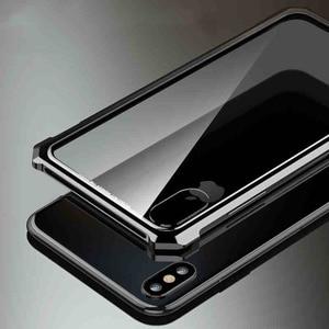 Image 2 - יוקרתי אולטרה דק מתכת מסגרת מזג זכוכית מראה מעטפת עבור Iphone XS מקרה כיסוי עבור XS מקסימום עבור XR מתכת מקרה
