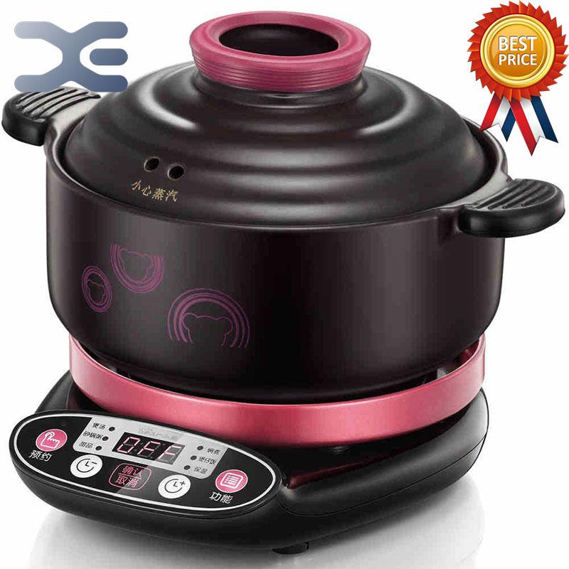 1 Sets Of Machines 2 Pots Slow Cookers Electric Casserole Soup Pot Reservation Electric Cooker Automatic Porridge Pot Porcelain