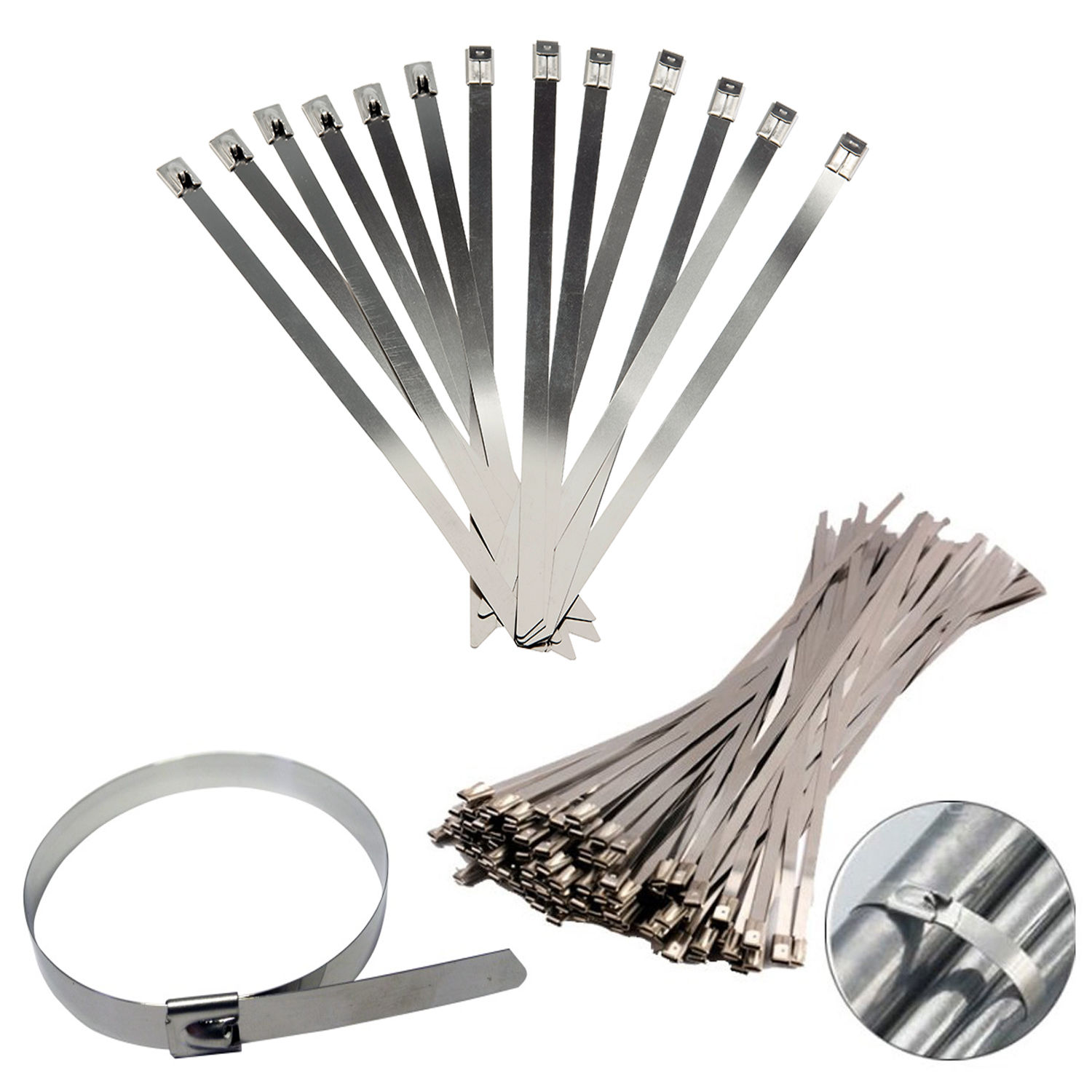 10pcs-stainless-steel-metal-cable-ties-tie-zip-wrap-exhaust-heat-straps-induction-pipe