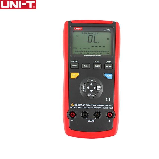 UNI T UT612 LCR متر واجهة USB الحث السعة عدد وأدوات المقاومة المرحلة زاوية متعددة متر مطابقة