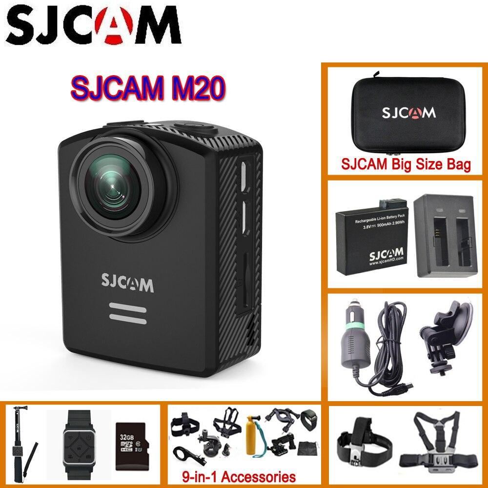 SJCAM M20 гироскопа мини Действие шлем Спорт DV Камера 30 м Водонепроницаемый 4 К 24fps 2 К 30fps ntk96660 16mp С формате RAW оригинальный M20