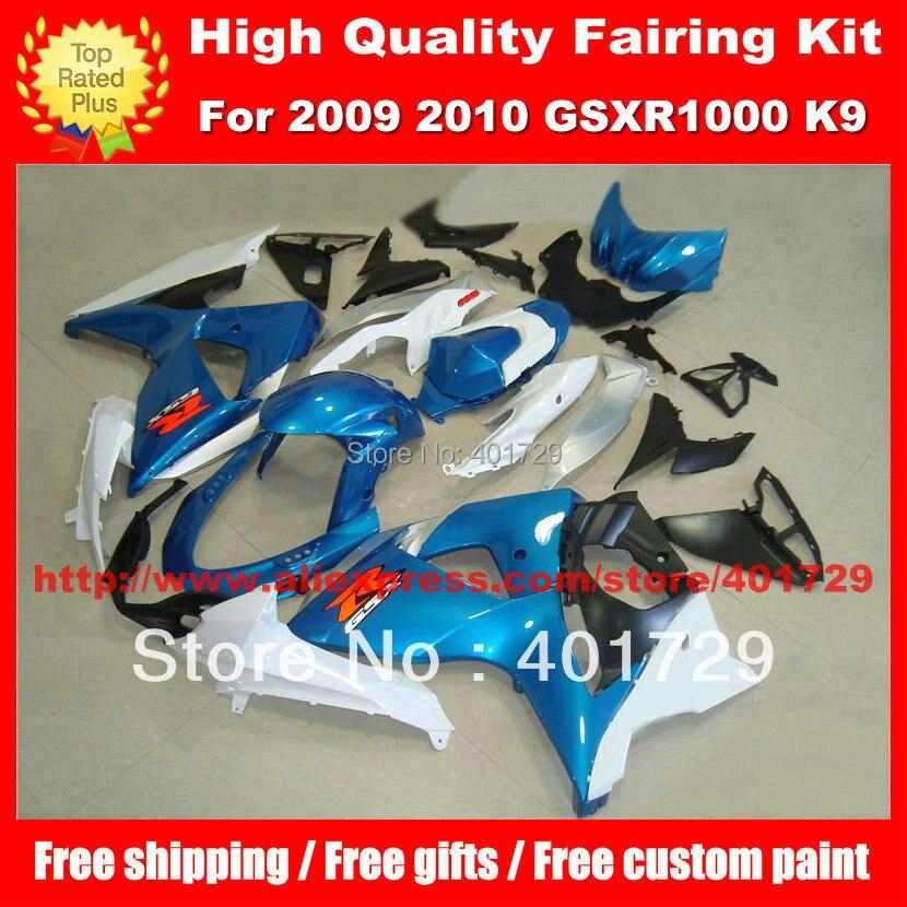 Mix color Racing motorcycle fairing for SUZUKI GSX R1000 2009 2010 GSXR1000 09 10 K9 free gifts bodywork set