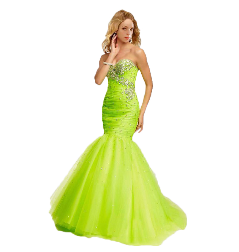 2017 Lime Green Long Prom Dresses Mermaid Blue Formal ...