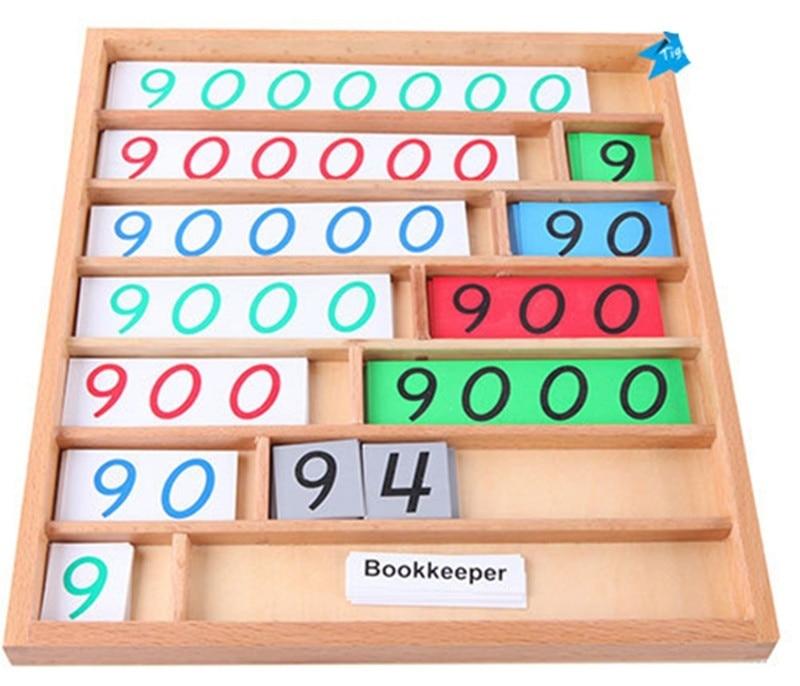 Nouvelle boîte en bois bébé jouet Montessori bois banque jeu mathématiques petite enfance éducation préscolaire formation enfants bébé cadeaux - 4