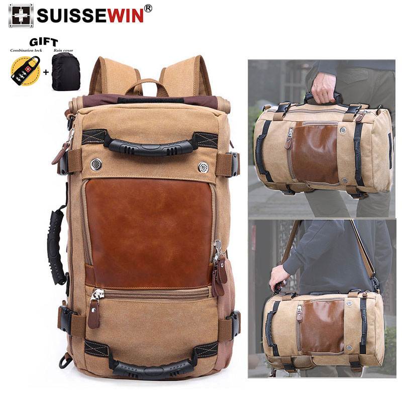 2019 NEW brand Fashion male canvas fabric rucksack laptop backpack Large Capacity designer bag casual travel