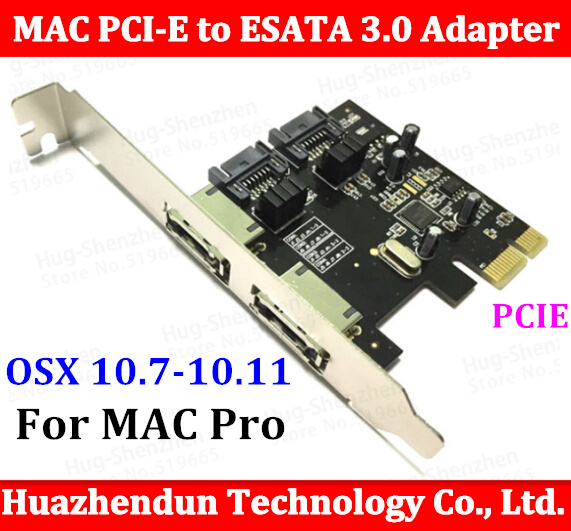For All Mac Pro  06-12 machine High Quality New PCI-E to ESATA 3.0 Adapter Converter Extension Card 2port MA970 A1186