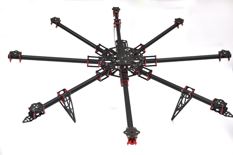 aliexpresscom buy hh lj 1180mm large grade professional 25mm pure carbon fiber tube foldingfoldable octocopterhexacopterquadcopter frame kit from