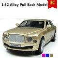 Роскошный Bentley Mulasanne модель автомобиля, 1:32 масштаб Сплав Вытяните Назад автомобили, Литье Под Давлением внедорожник, мигает мальчик, игрушки девочек, бесплатная доставка