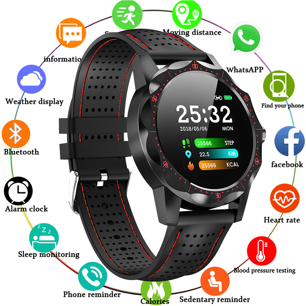 MNWT Smart Watch IP68 Waterproof Fitness Tracker Heart Rate Monitor Blood Pressure Women Men Clock Smartwatch For Android IOS