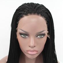 سيلفيا 1b # Color الاصطناعية مضفر الدانتيل الجبهة الباروكات للنساء ألياف مقاومة للحرارة خصلات الشعر المستعار قسط جديلة شعر مستعار