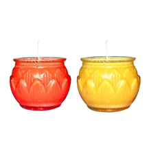 Environmentally Friendly Candle Butter Lamp Scented Candles In Glass Flower Kaarsen Buddhist Fete 50KO339