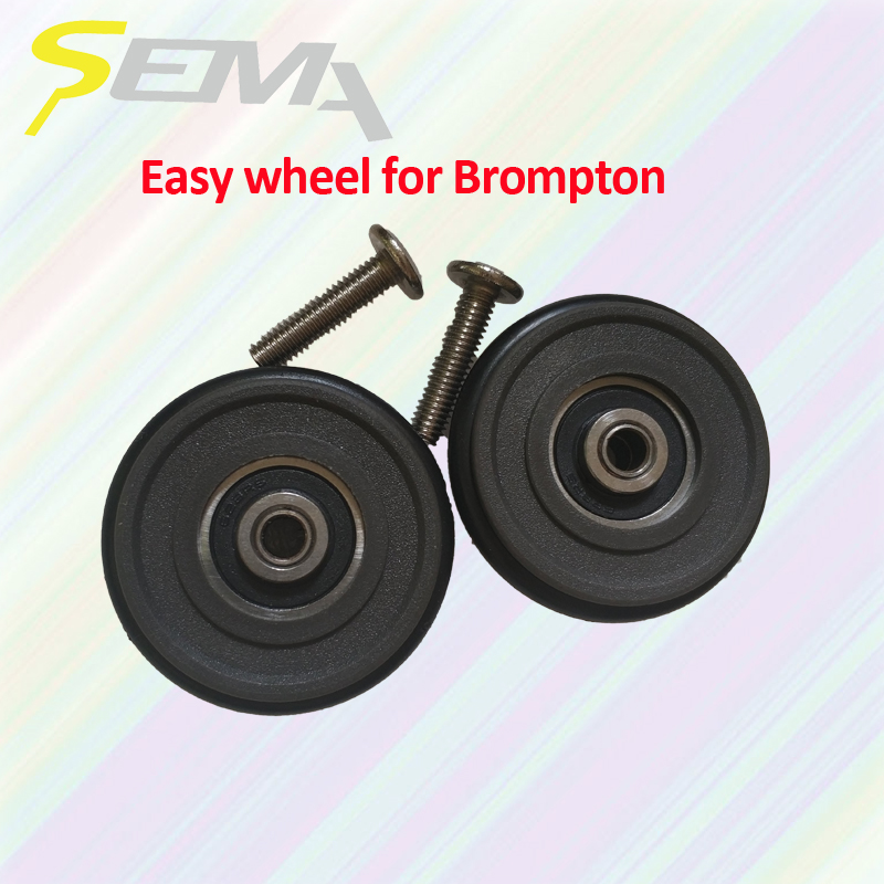 SEMA easy wheel for Brompton light weight 40g best quality easy wheel for brompton bike plastic easy wheel hot sale products
