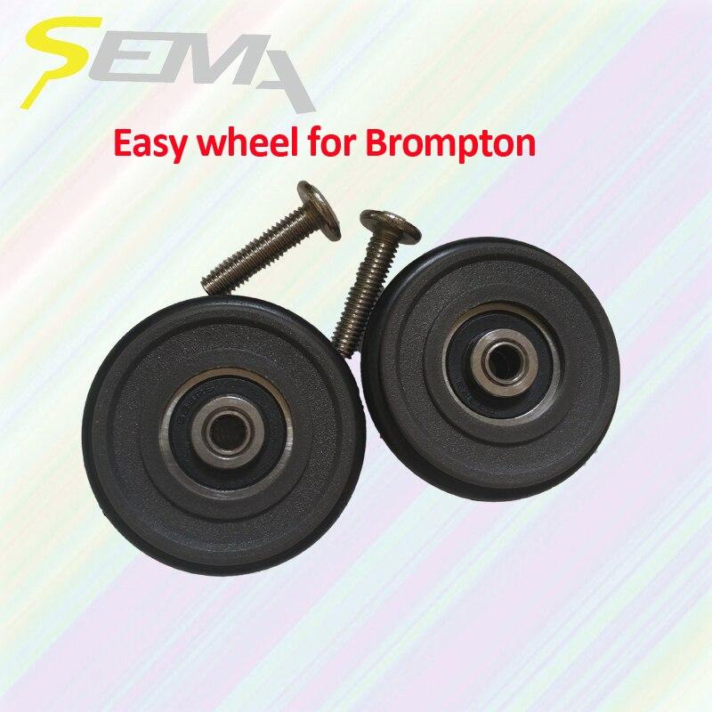 SEMA facile roue pour Brompton lumière poids 40g meilleure qualité facile de roue pour vélo brompton en plastique facile roue vente chaude produits