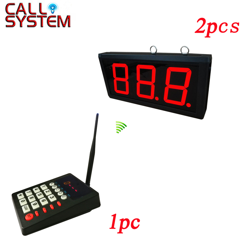 Fast Food Restaurant Queue waiting call system 2 number screen with 1 keyboard show 001 999