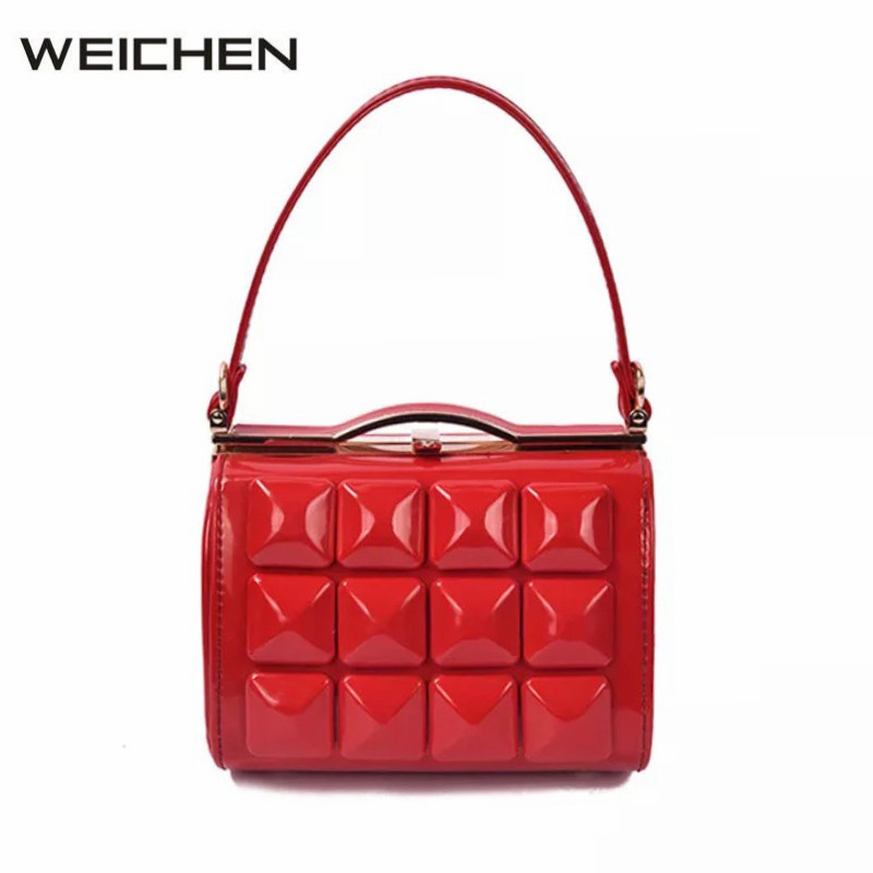 Women Handbag Shoulder Bags 2018 Patent Leather Studded Bag Handbags Woman Mini Bags For Gifts Female Messenger Crossbody Bag patent leather handbag shoulder bag for women page 10