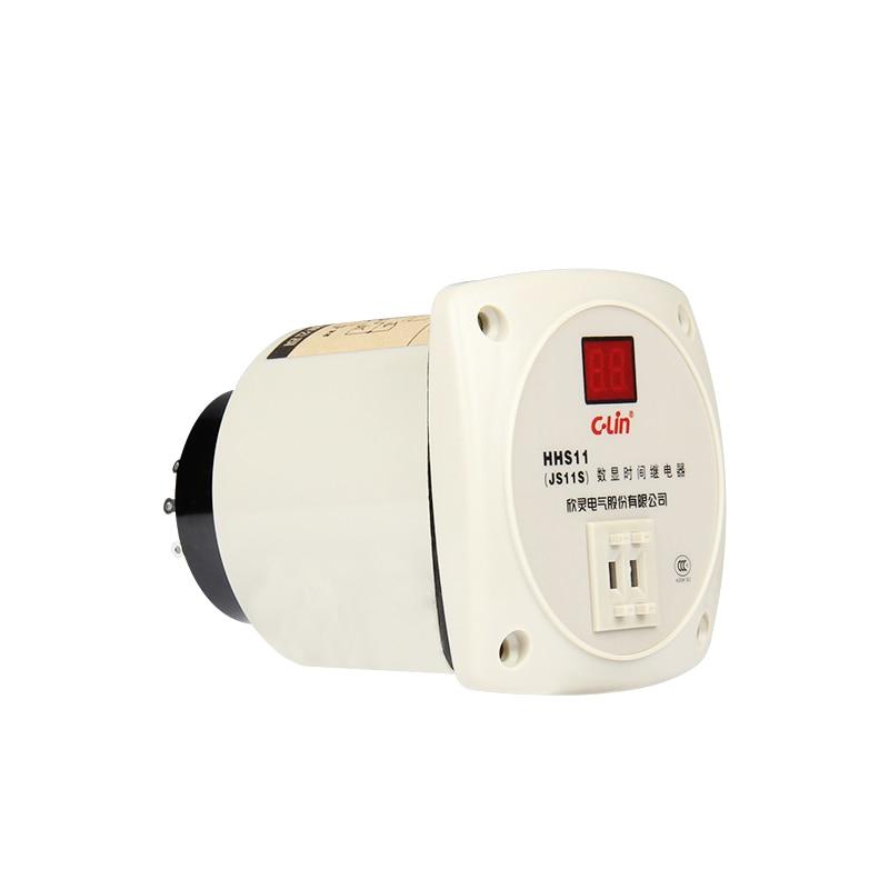 JS11S numéro afficher le relais de temps HHS11 plage de retard de temps 99 S tension de travail AC220V