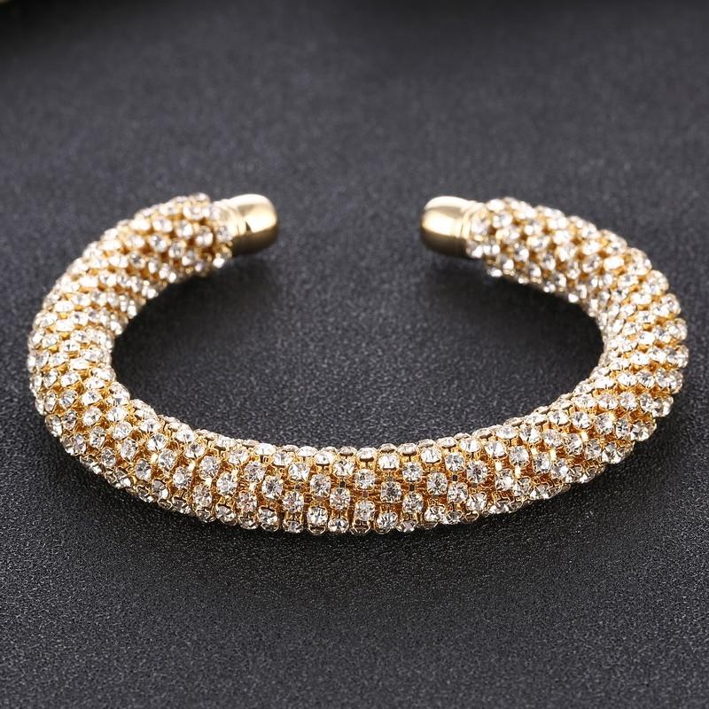 LOVBEAFAS Fashion Luxury Cuff Bracelets & Bangles For Women Crystal Rhinestone Vintage Bracelets Fine Jewelry Accessories 9