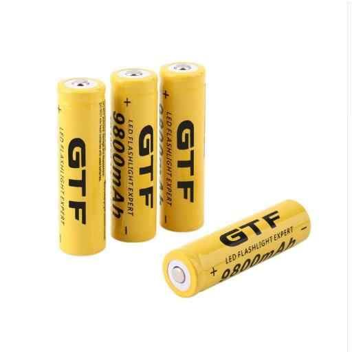 Новый 3,7 V 18650 9800 mAh Аккумулятор емкость литий-ионная аккумуляторная фонарик факел Желтый корпус батарея для повторного низкого фонаря