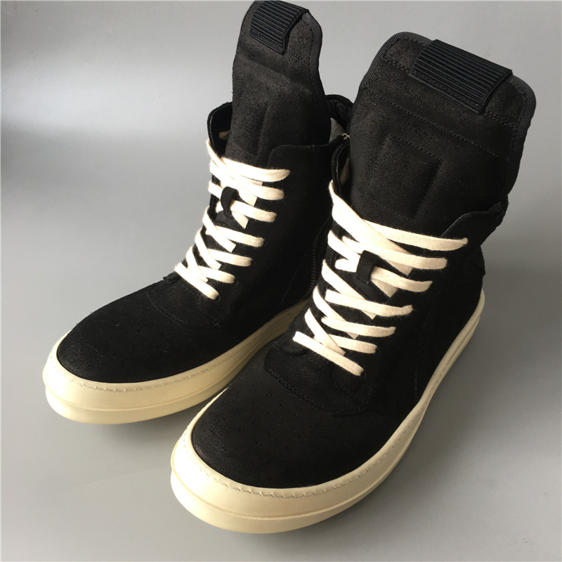 Factory Sale Real Sew Line Handmade Genuine Leather Trainer Flat Sneaker Boots Hip-hop Real Picture Lace Up Boots